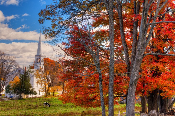 The Villages with Fall Foliage